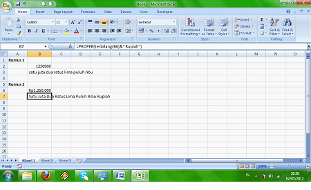 Cara Membuat Rumus Terbilang Excel - Cara-Excel